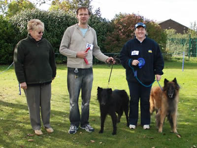 Test A obedience winners with judge Mrs L Whales